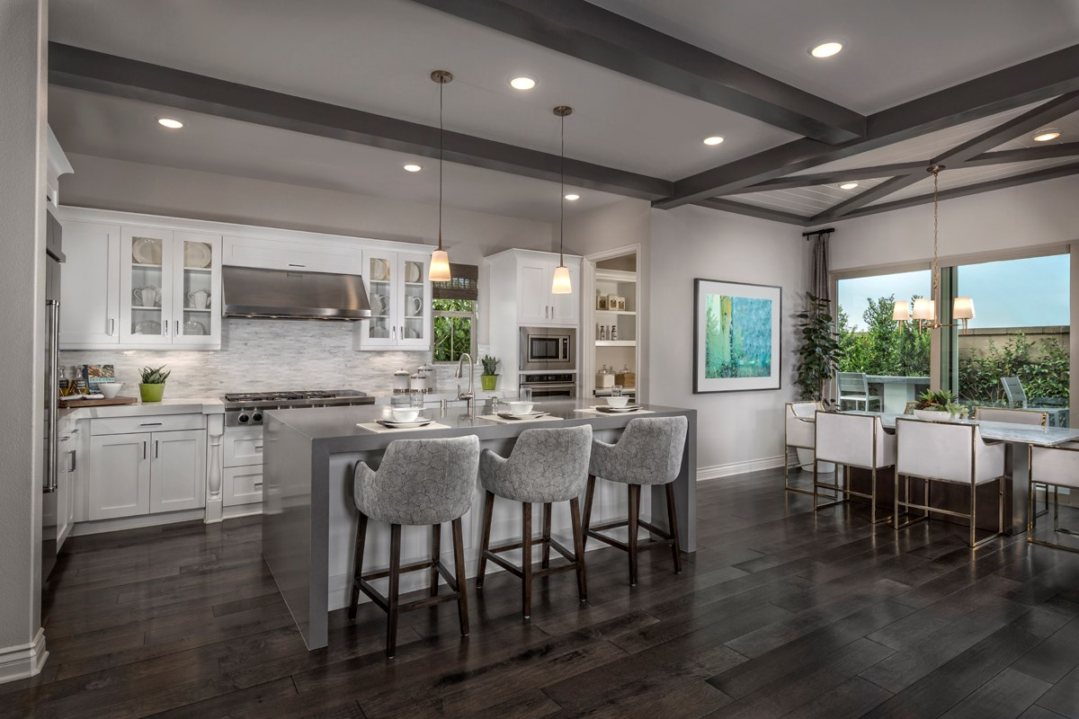 New Homes in Irvine, CA - Elderberry at Portola Springs Residence Three Kitchen