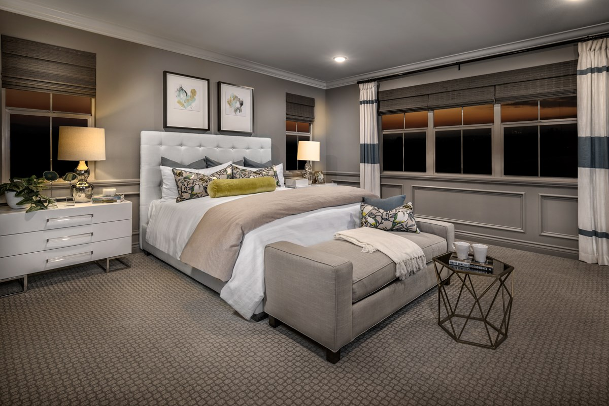 New Homes in Irvine, CA - Elderberry at Portola Springs Residence Three Master Bedroom