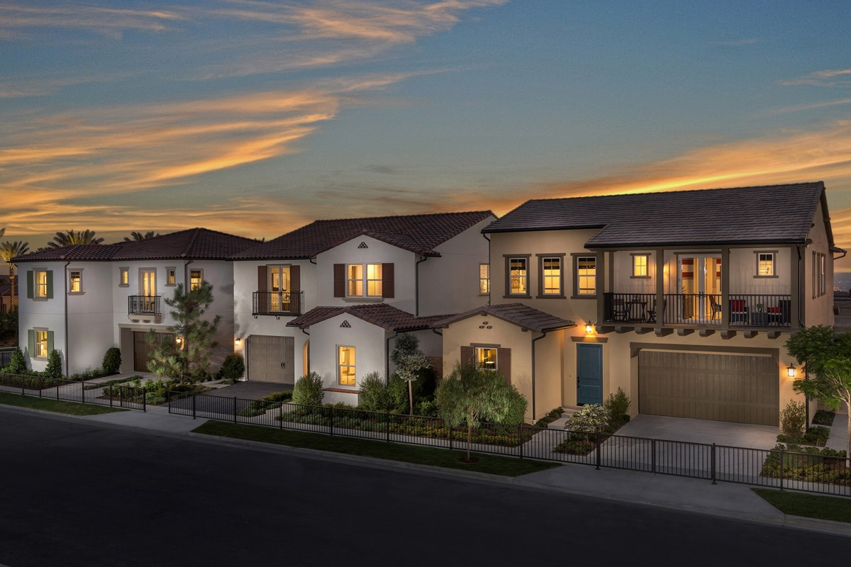 New Homes in Irvine, CA - Elderberry at Portola Springs Street Scene