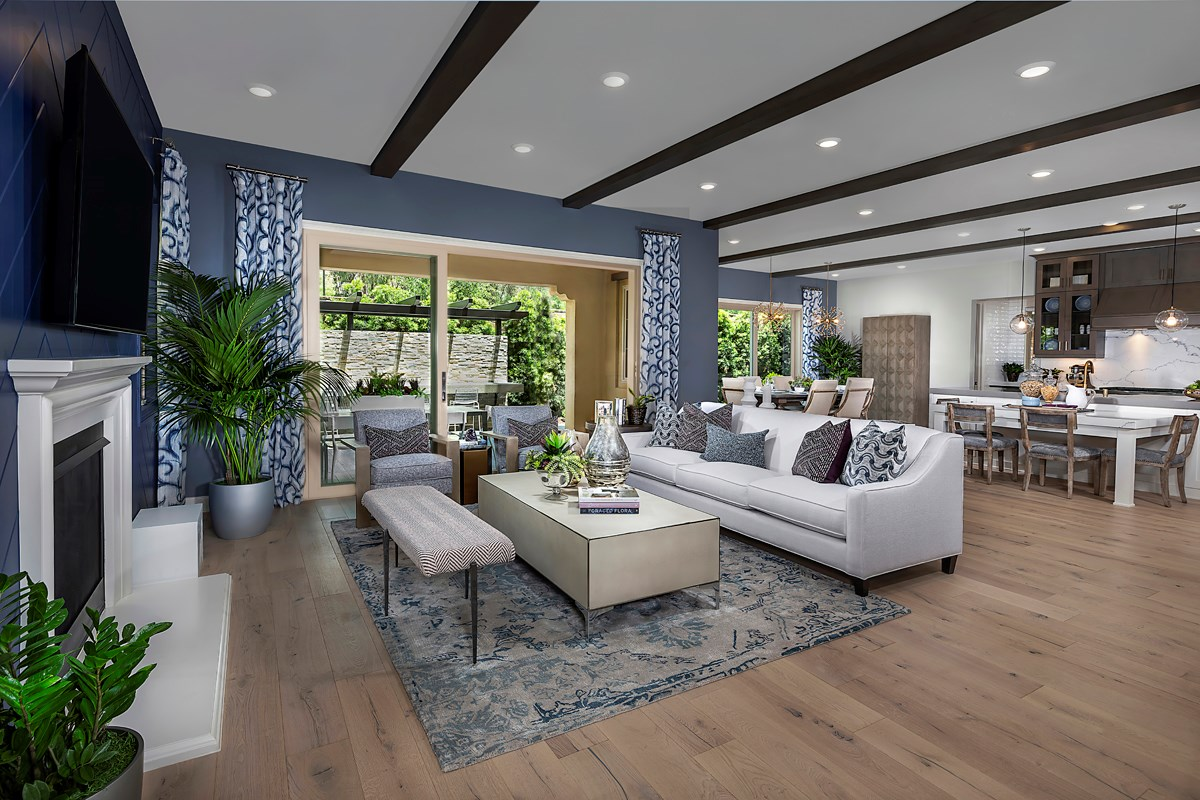 New Homes in Irvine, CA - Genoa at Orchard Hills Residence Two Great Room