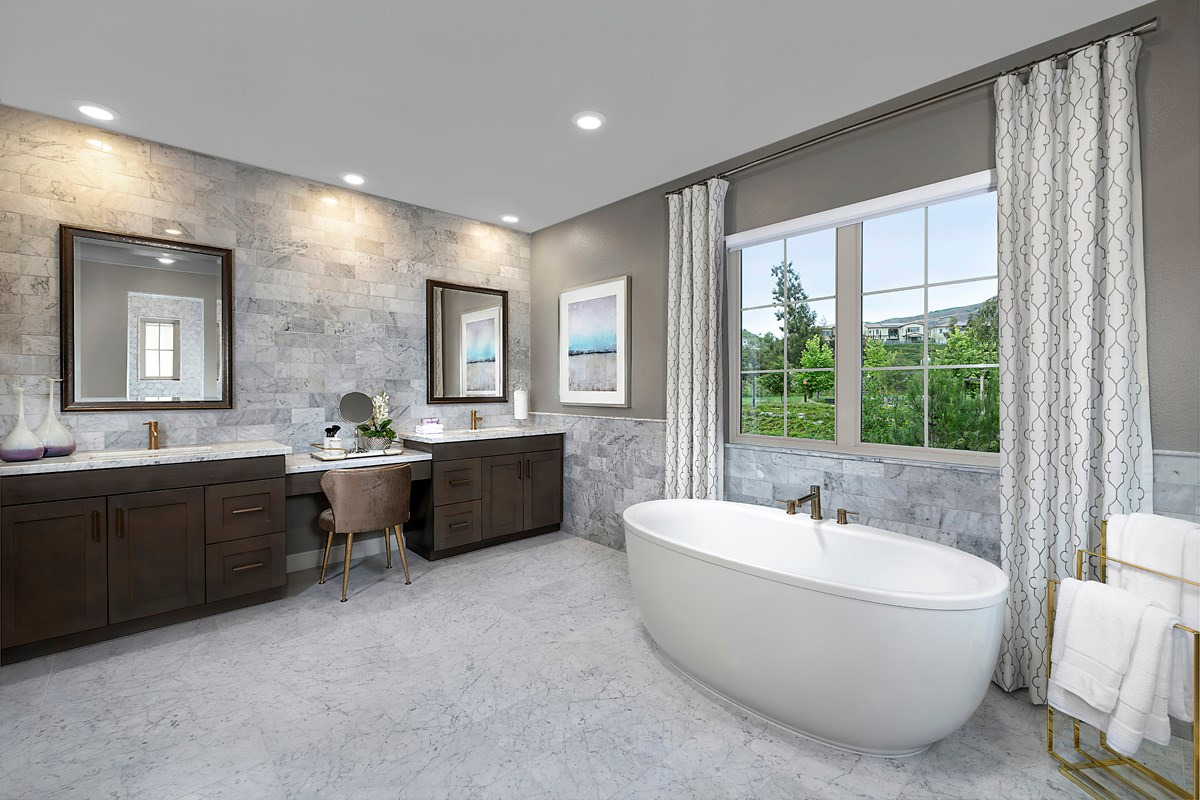 New Homes in Irvine, CA - Genoa at Orchard Hills Residence Two Master Bathroom