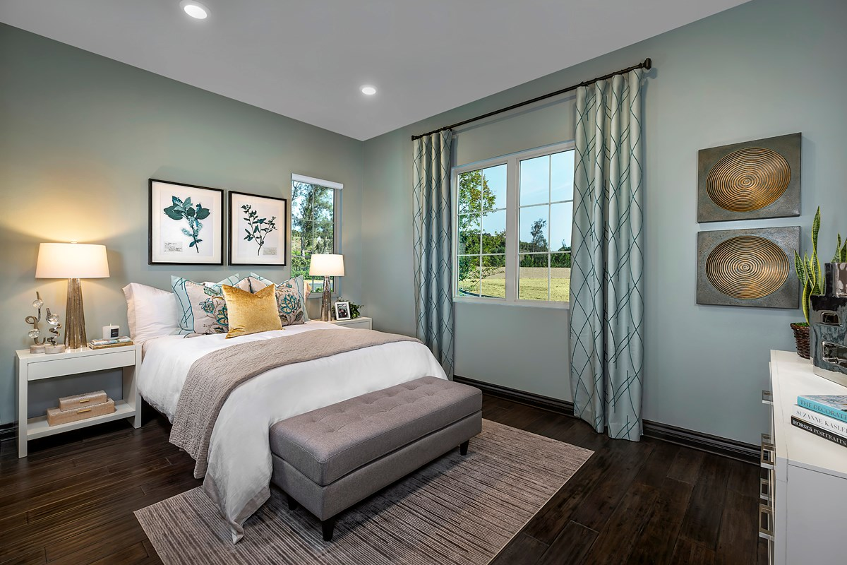 New Homes in Irvine, CA - Genoa at Orchard Hills Residence Three First Floor Bedroom