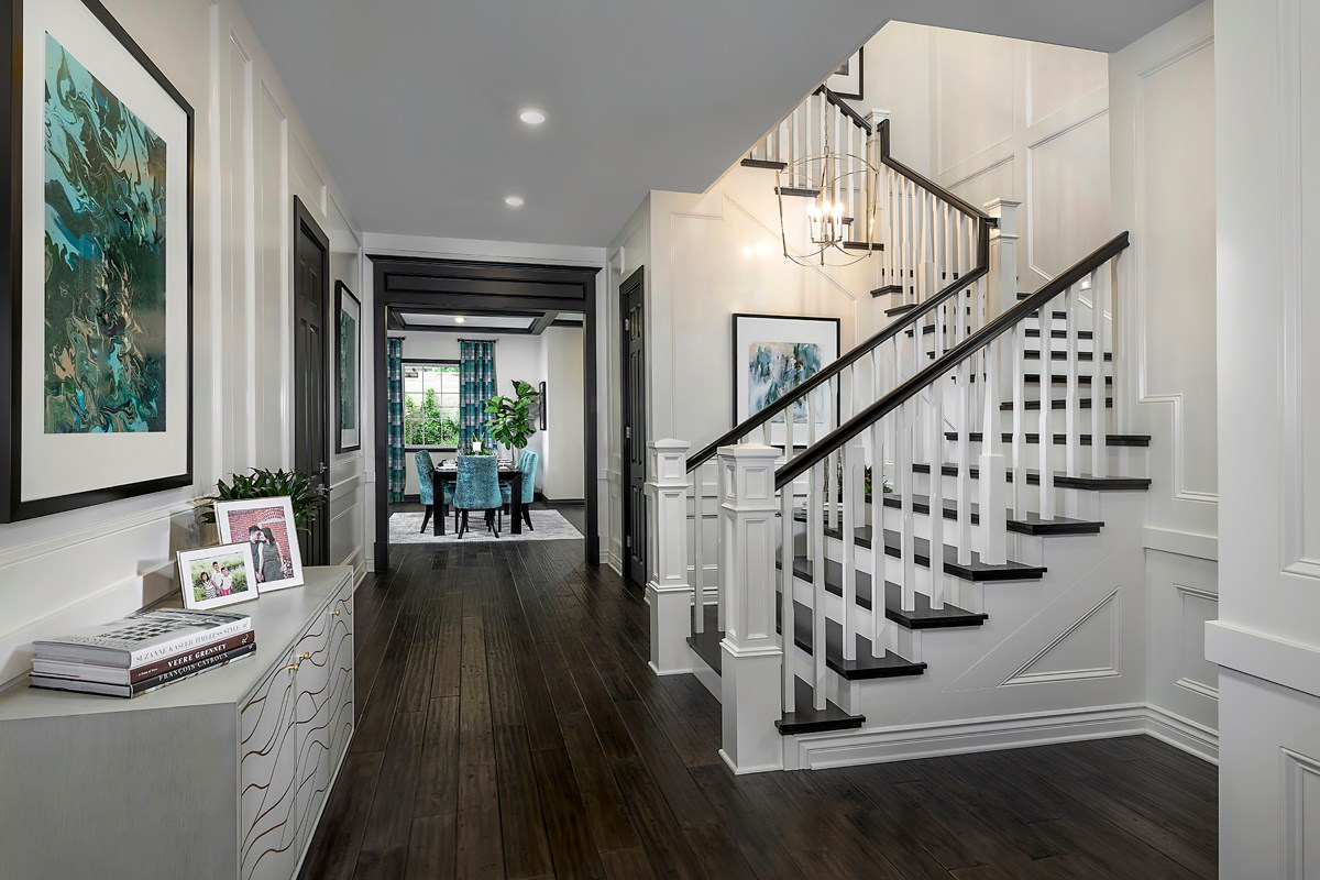 New Homes in Irvine, CA - Genoa at Orchard Hills Residence Three Entry Foyer