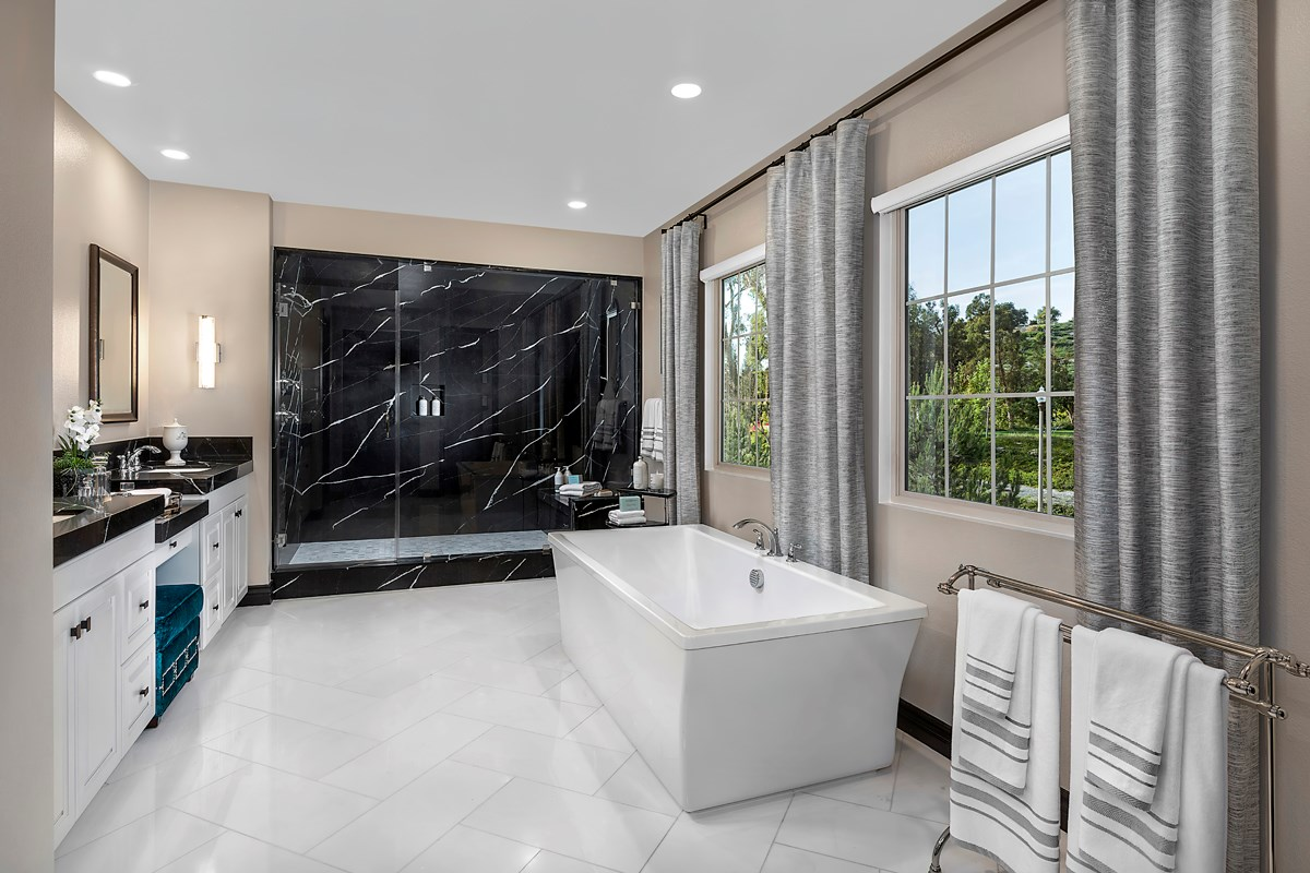 New Homes in Irvine, CA - Genoa at Orchard Hills Residence Three Master Bathroom