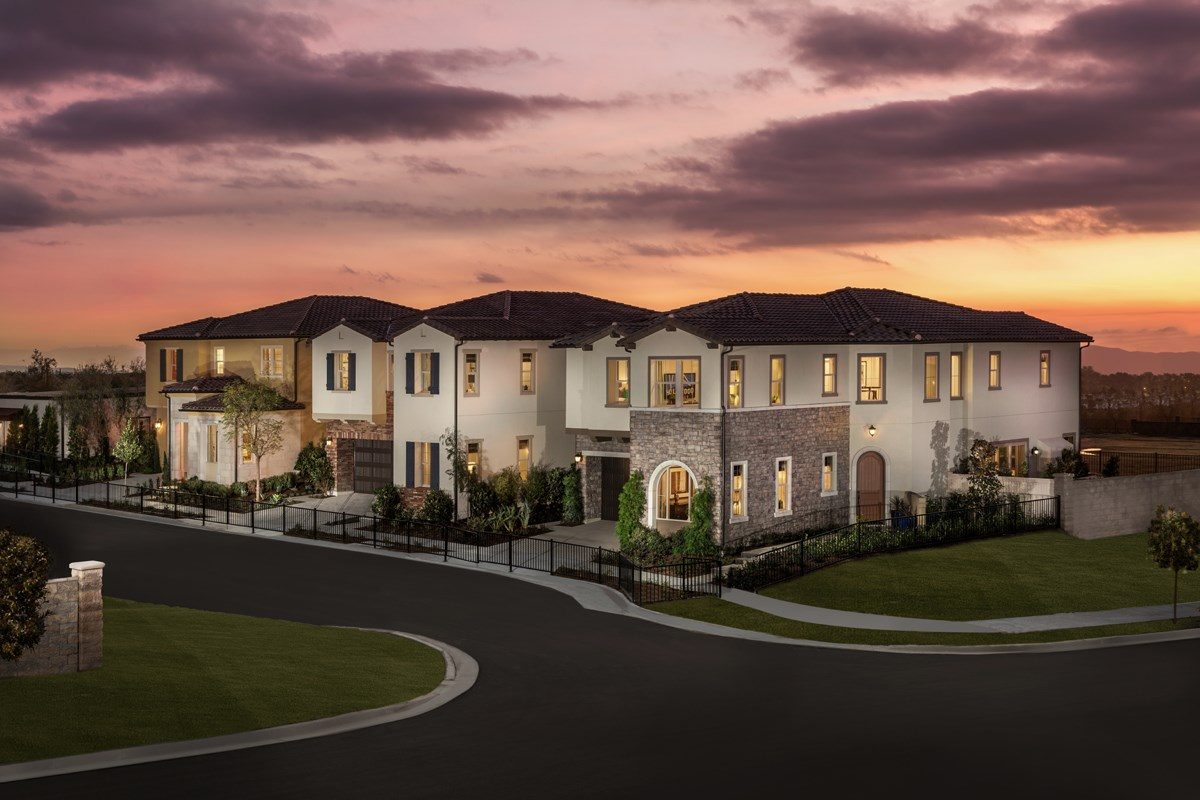 New Homes in Lake Forest, CA - Highmark at Ironridge Exterior Street Scene