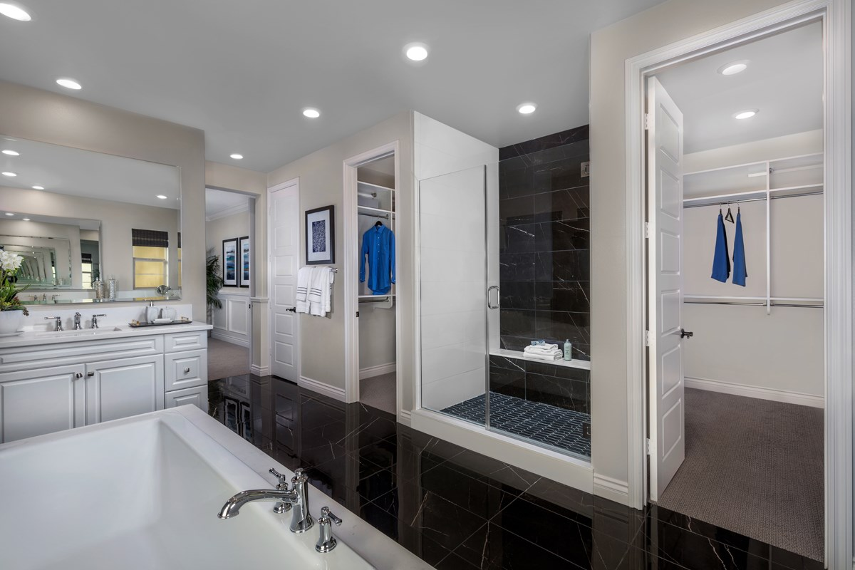 New Homes in Lake Forest, CA - Highmark at Ironridge Residence Two Master Bathroom