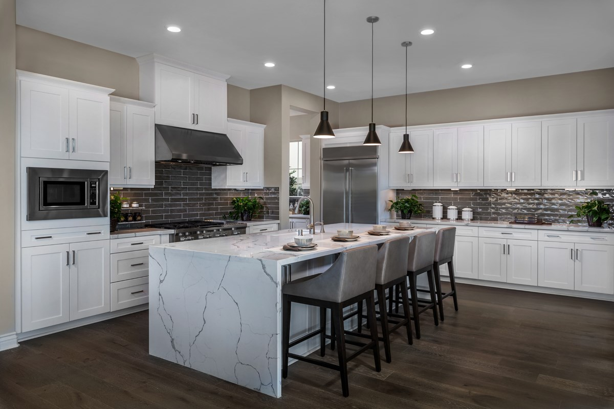 New Homes in Lake Forest, CA - Highmark at Ironridge Residence Three Kitchen
