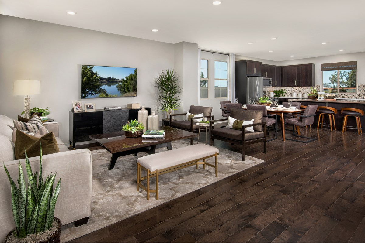 New Homes in Santa Ana, CA - Lotus Residence One Great Room / Kitchen