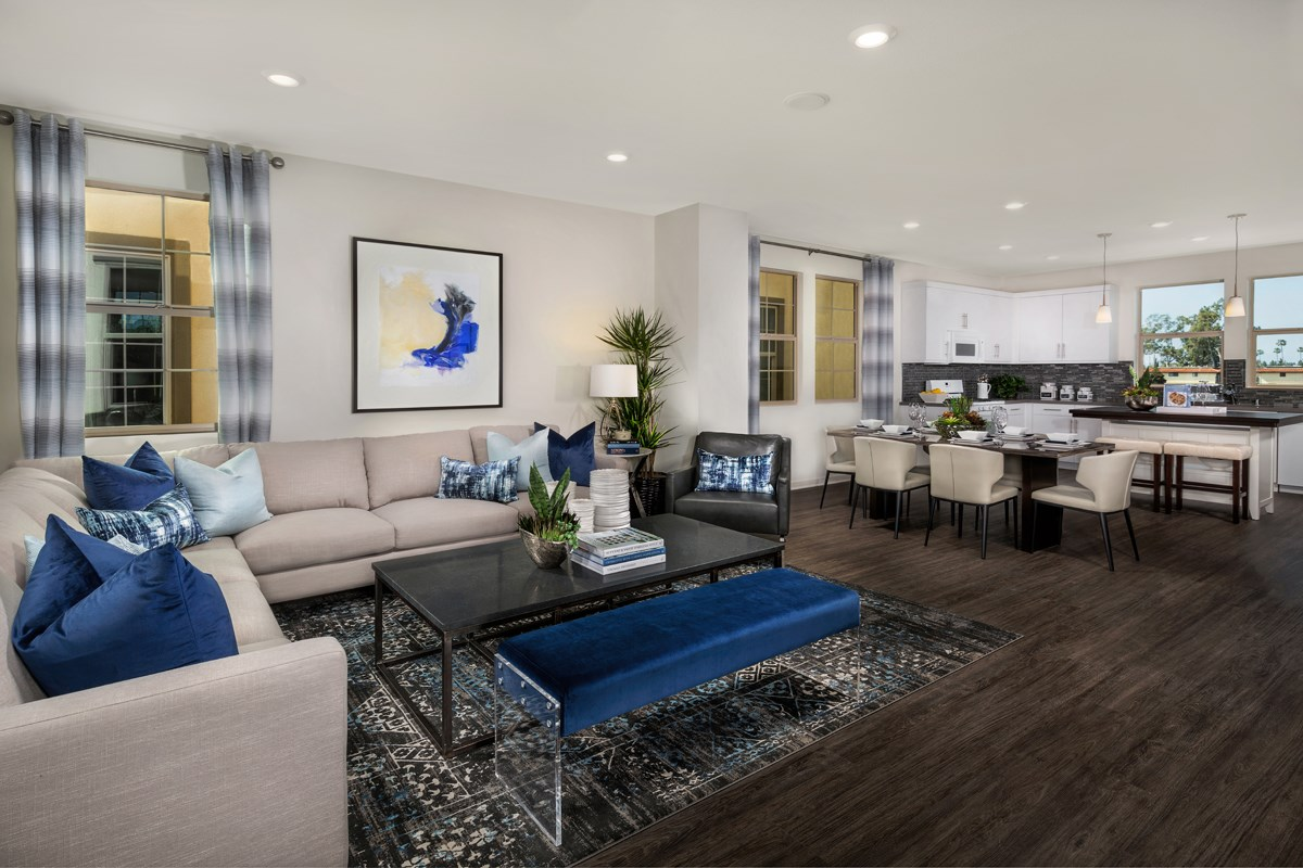 New Homes in Santa Ana, CA - Lotus Residence Two Great Room / Kitchen
