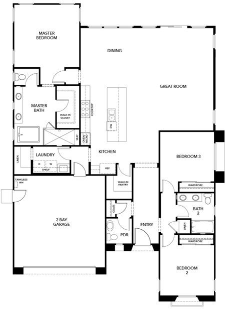 New Homes in Irvine, CA - Residence Three, First Floor