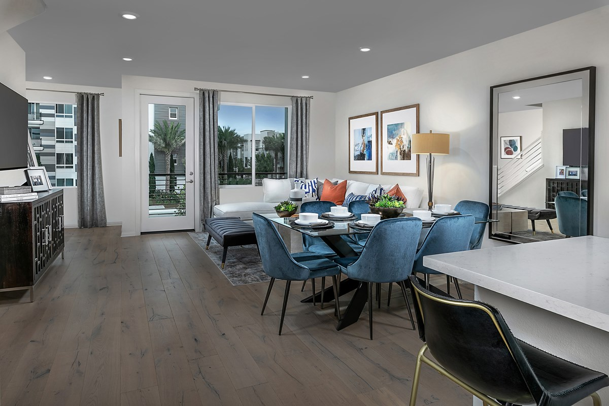 New Homes in Irvine, CA - Paseo Del Mar Residence 3 Great Room