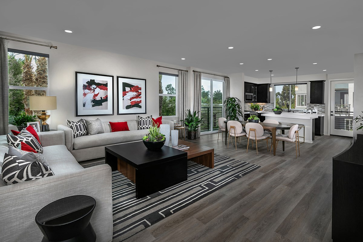 New Homes in Irvine, CA - Paseo Del Mar Residence 5 Great Room