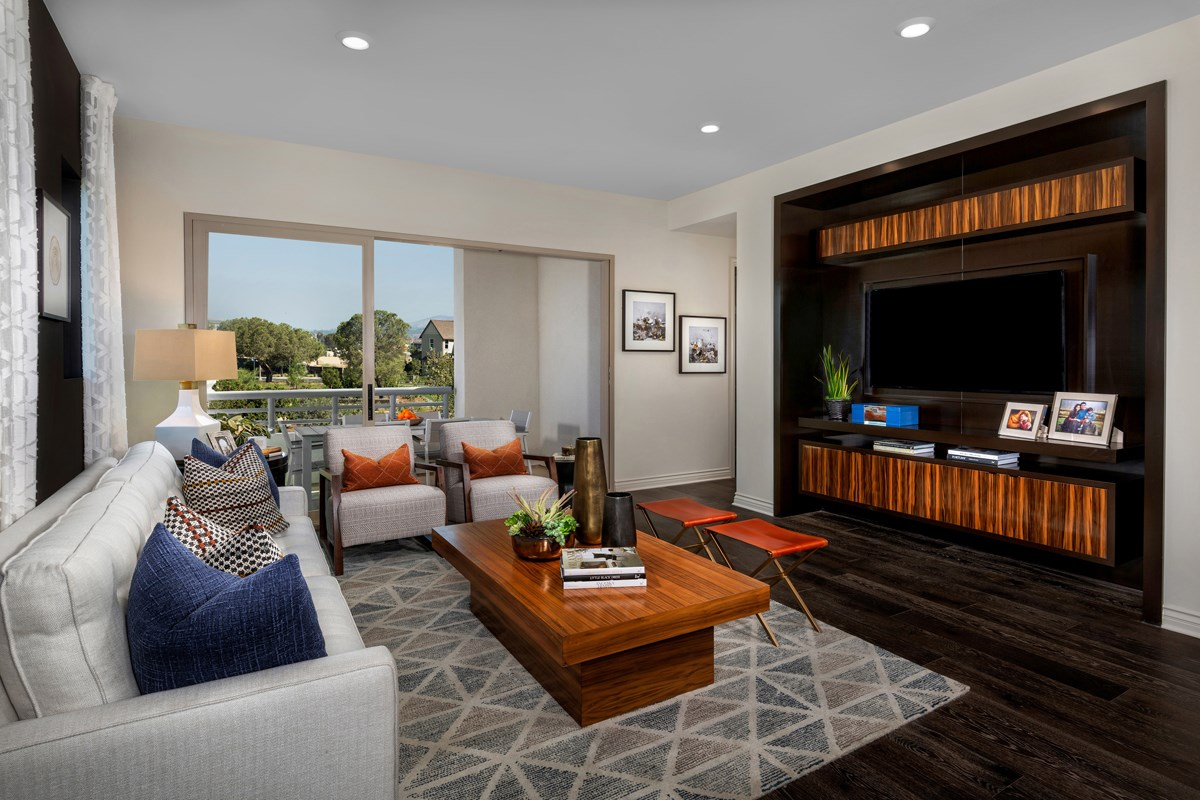 New Homes in Irvine, CA - Prado at Cadence Park Residence One - Great Room