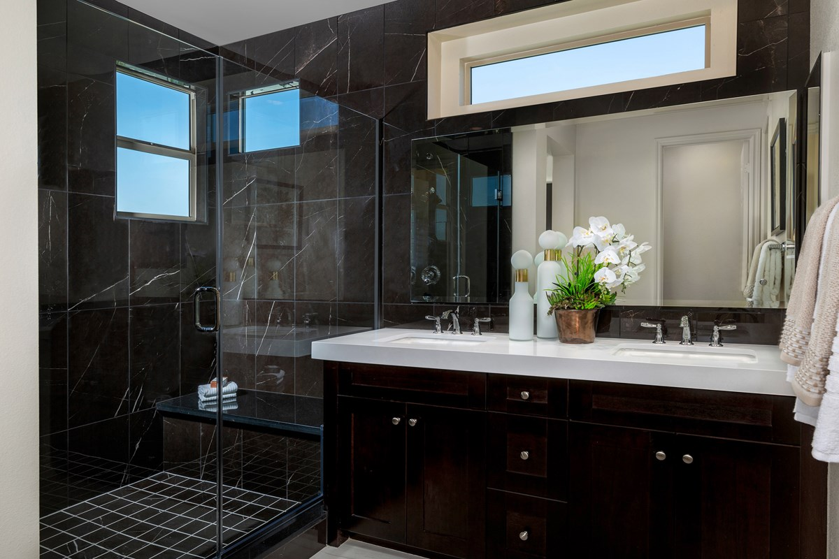 New Homes in Irvine, CA - Prado at Cadence Park Residence One - Master Bathroom