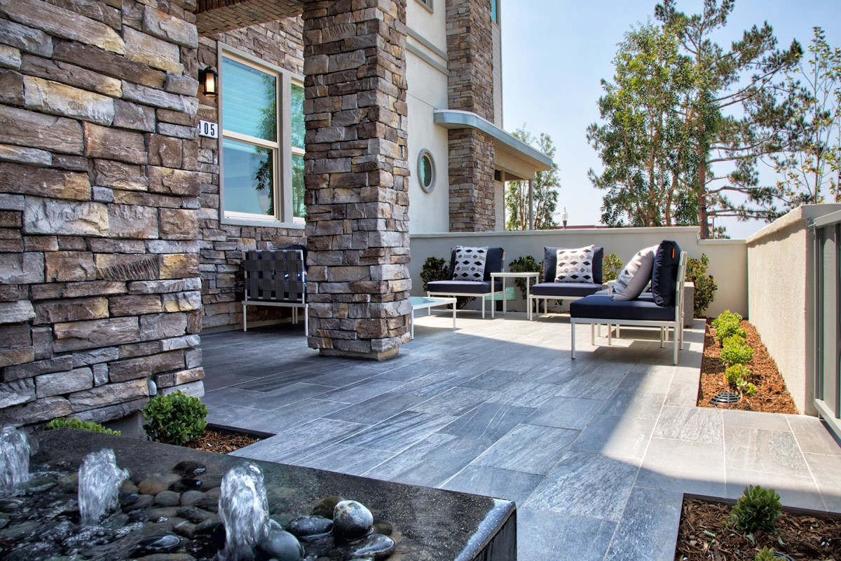 New Homes in Irvine, CA - Prado at Cadence Park Residence One - Patio (Alternate View)