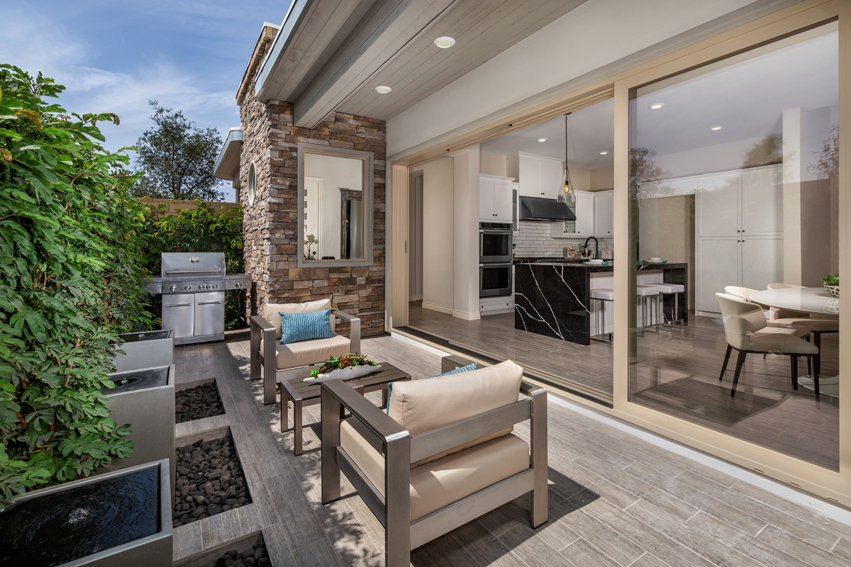 New Homes in Irvine, CA - Prado at Cadence Park Residence Three - Patio