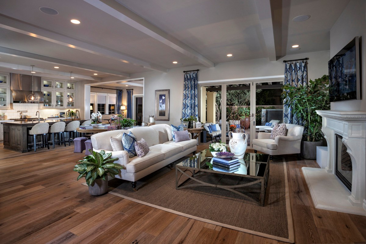 New Homes in Irvine, CA - Vicenza at Orchard Hills Residence One - Great Room Bi-Fold Doors Closed