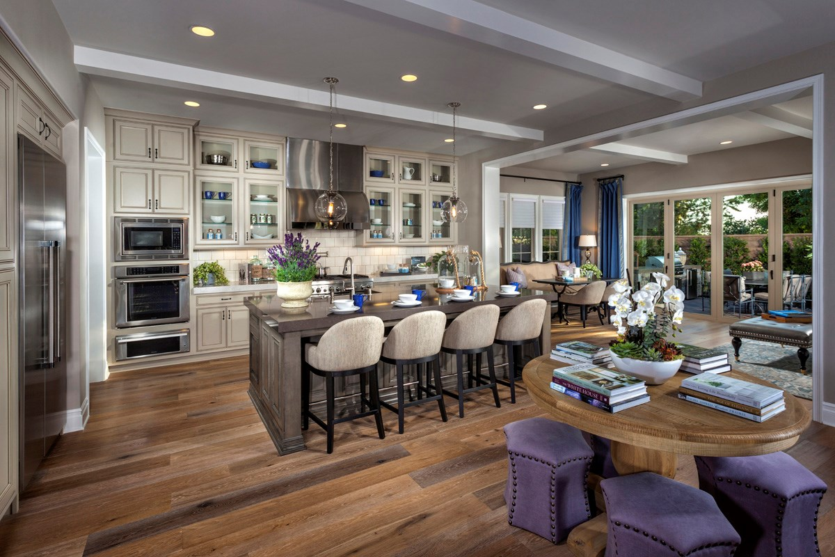 New Homes in Irvine, CA - Vicenza at Orchard Hills Residence One - Kitchen/Conservatory Bi-Fold Doors Closed