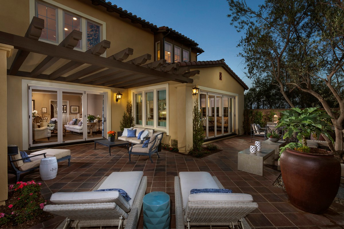 New Homes in Irvine, CA - Vicenza at Orchard Hills Residence One - Patio Bi-Fold Doors Closed