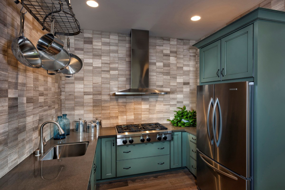 New Homes in Irvine, CA - Vicenza at Orchard Hills Residence One - Prep Kitchen
