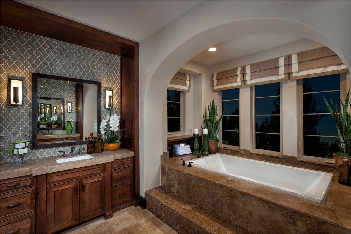 New Homes in Irvine, CA - Vicenza at Orchard Hills Residence Two - Master Bathroom