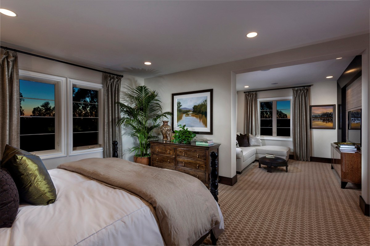 New Homes in Irvine, CA - Vicenza at Orchard Hills Residence Two - Master Bedroom