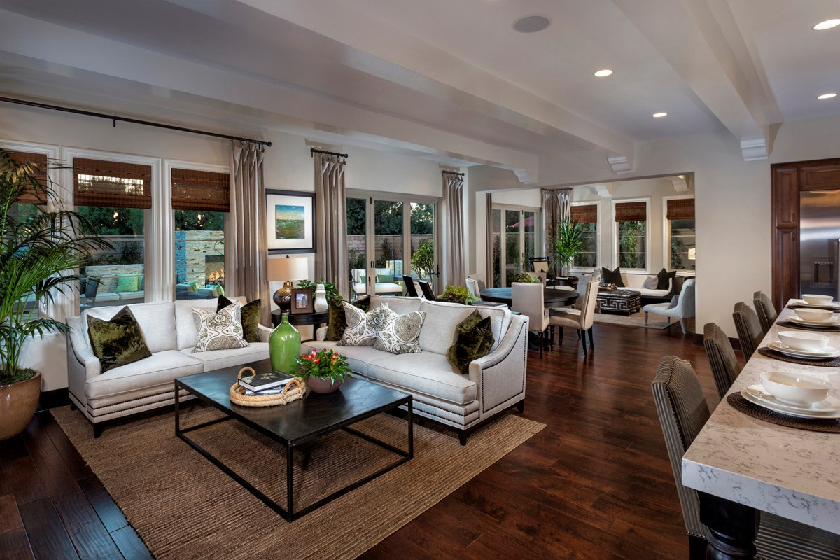 New Homes in Irvine, CA - Vicenza at Orchard Hills Residence Two - Great Room Bi-Fold Doors Closed