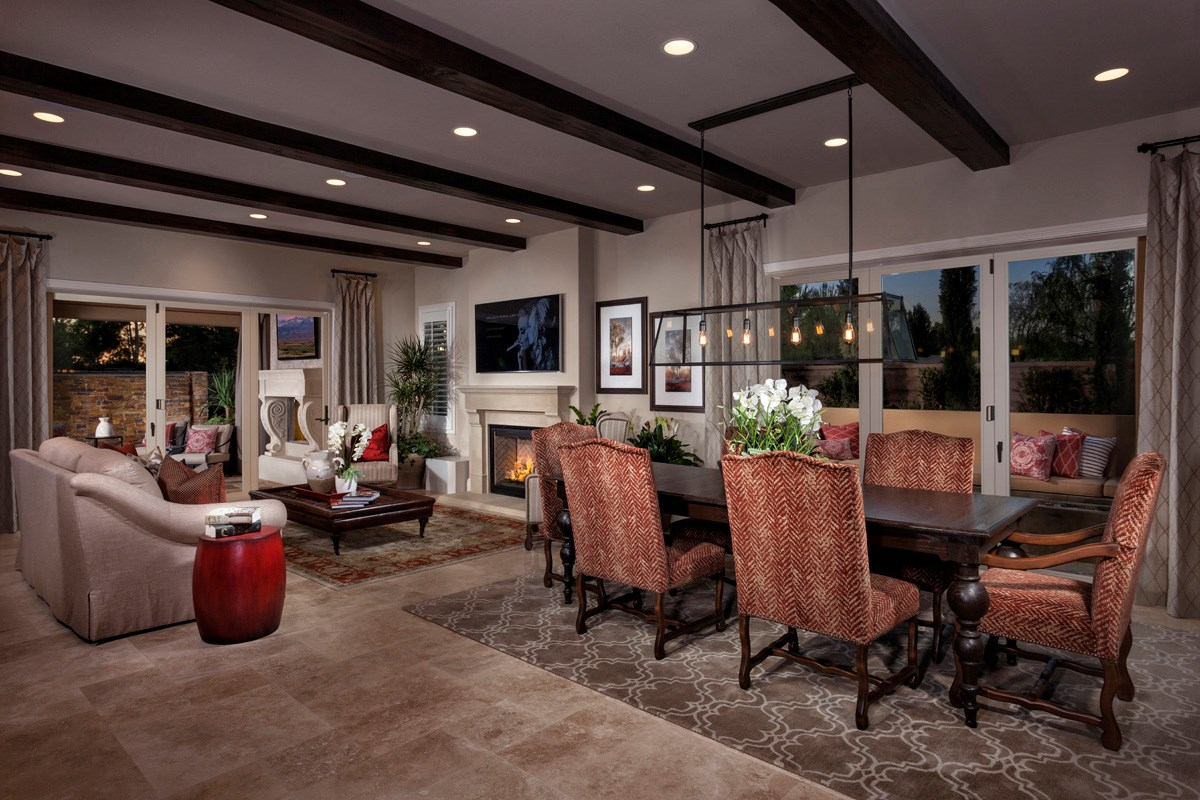 New Homes in Irvine, CA - Vicenza at Orchard Hills Residence Three - Great Room Bi-Fold Doors Closed
