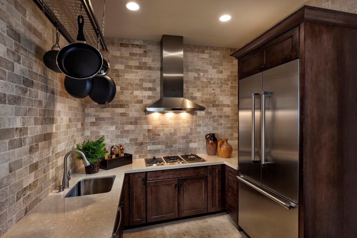 New Homes in Irvine, CA - Vicenza at Orchard Hills Residence Three - Prep Kitchen