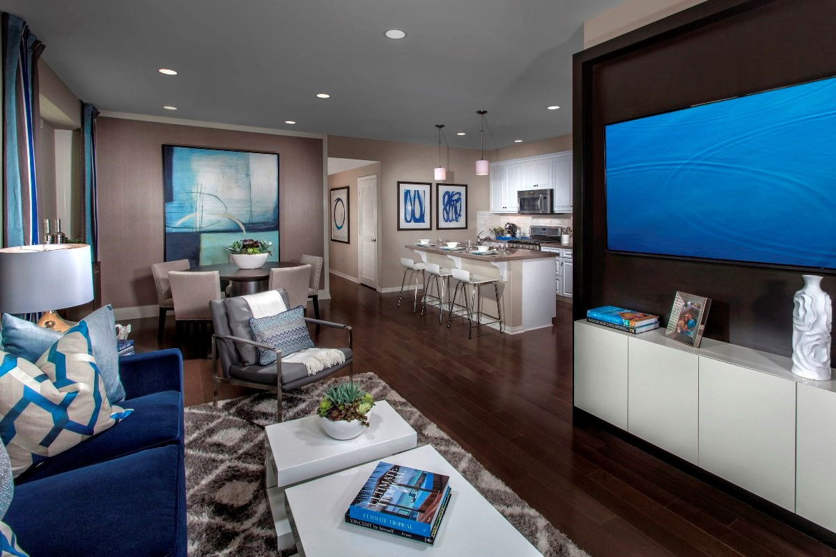 New Homes in Irvine, CA - Willow at Portola Springs Unit One - Living Room