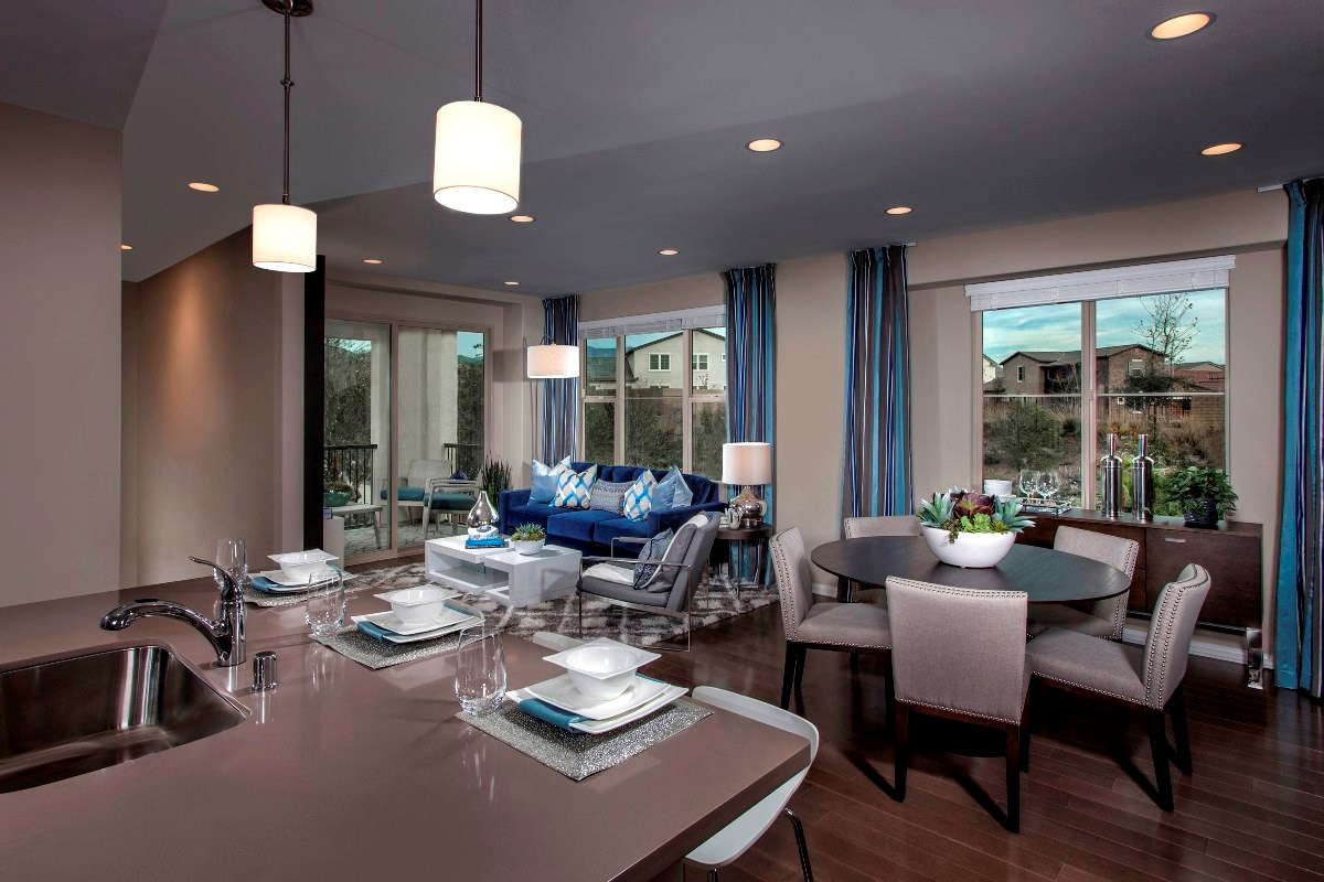 New Homes in Irvine, CA - Willow at Portola Springs Unit One - Living Room/Kitchen