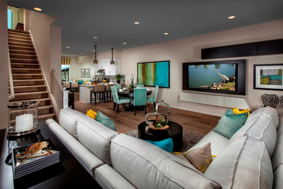 New Homes in Irvine, CA - Willow at Portola Springs Unit Three - Living Room