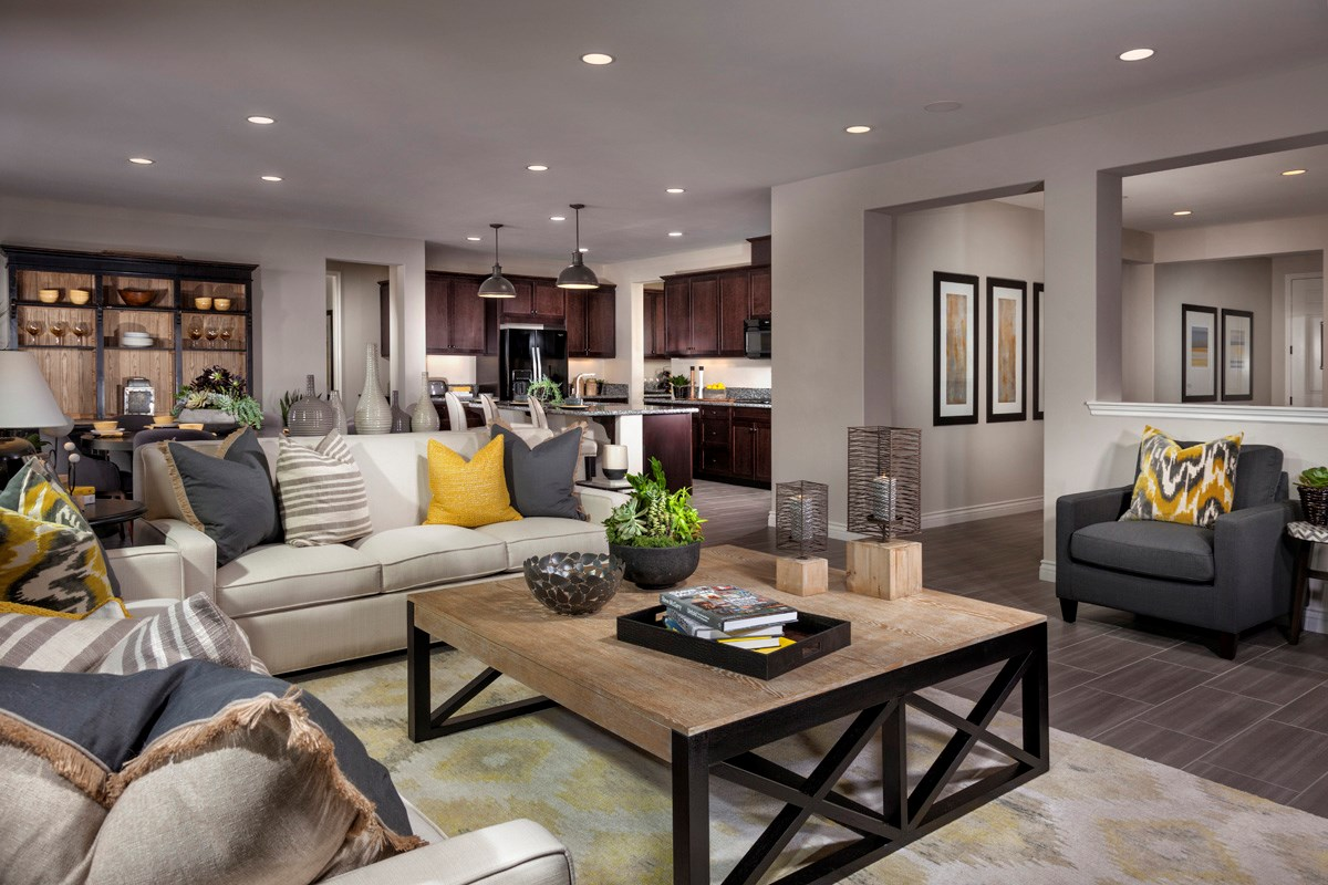 New Homes in Murrieta, CA - Acacia at Mahogany Hills Residence Three Great Room