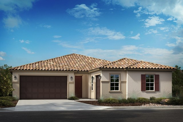 New Homes in French Valley, CA - Formal Spanish 'C' 3-car garage