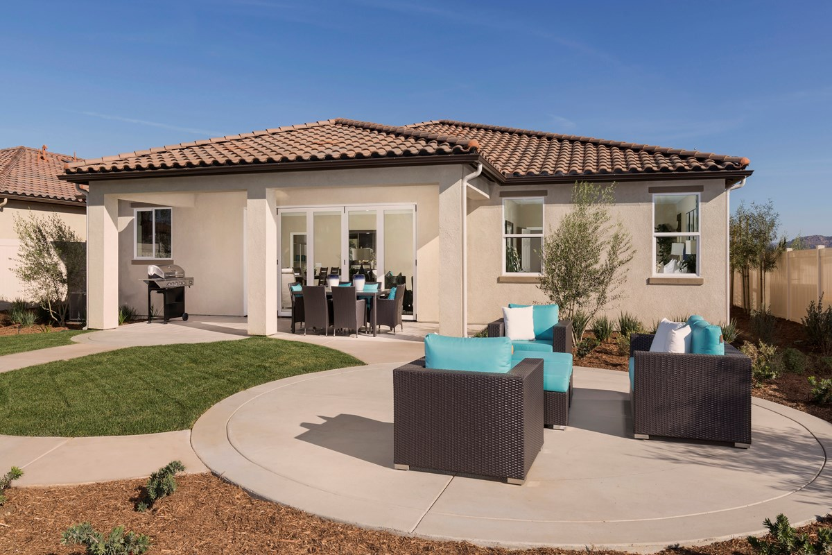 New Homes in French Valley, CA - Alure Residence One - Patio