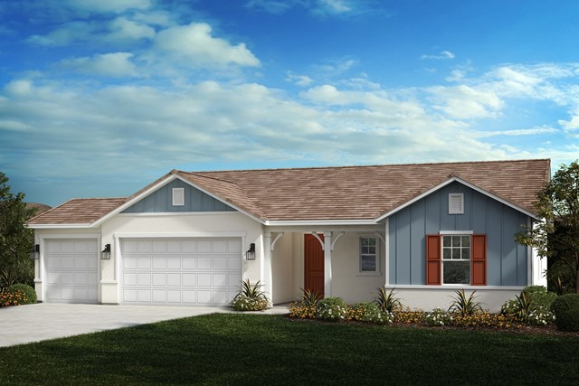 New Homes in Winchester, CA - Farmhouse 'B' 3-car garage