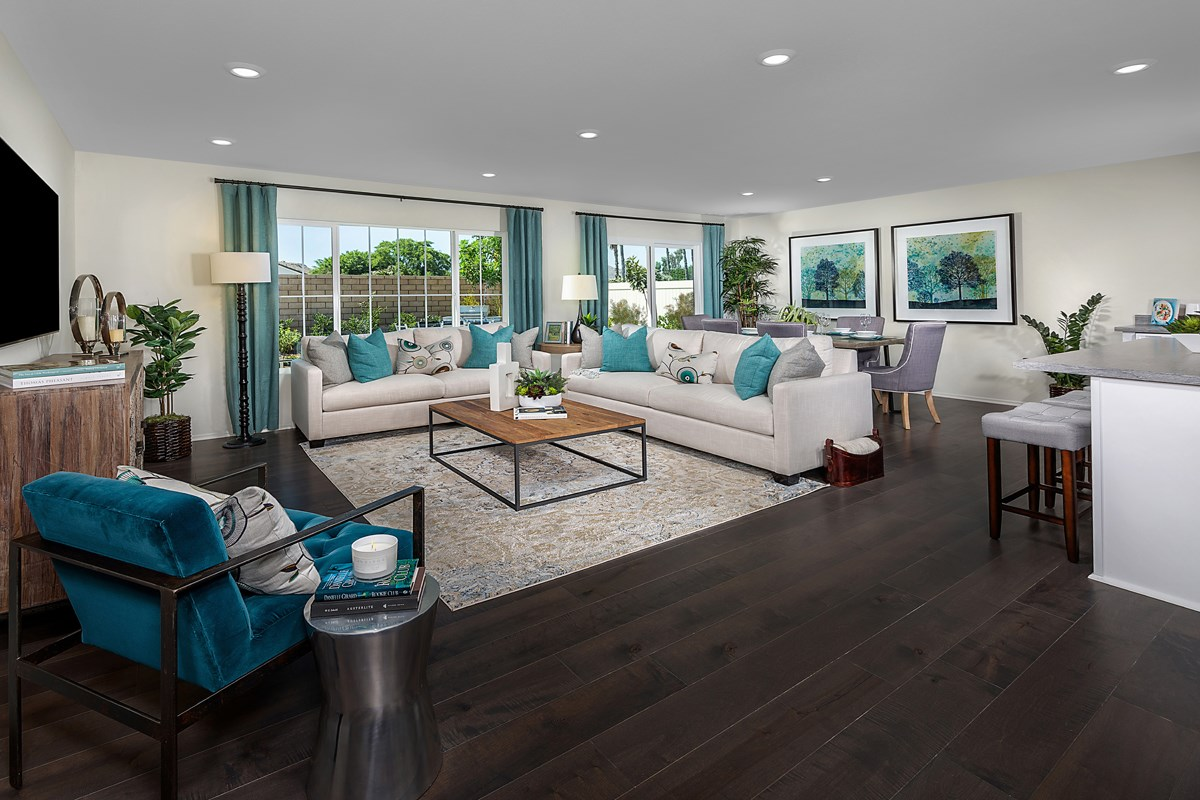 New Homes in Moreno Valley, CA - Bella Cortina Residence Seven - Great Room