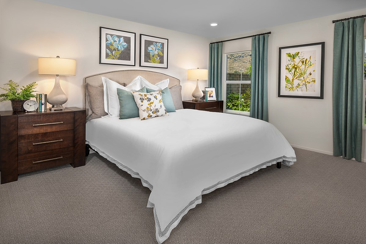 New Homes in Moreno Valley, CA - Bella Cortina Residence Seven - Master Bedroom
