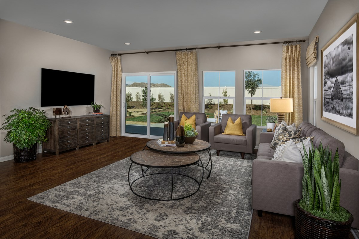 New Homes in Moreno Valley, CA - Bella Cortina Residence 2128 - Great Room