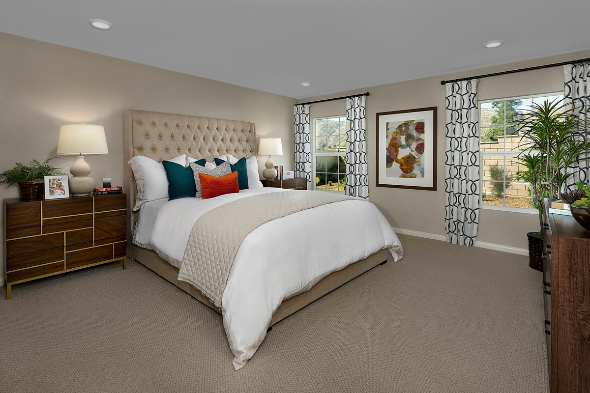 New Homes in Moreno Valley, CA - Boulder Ridge Residence Two - Master Bedroom