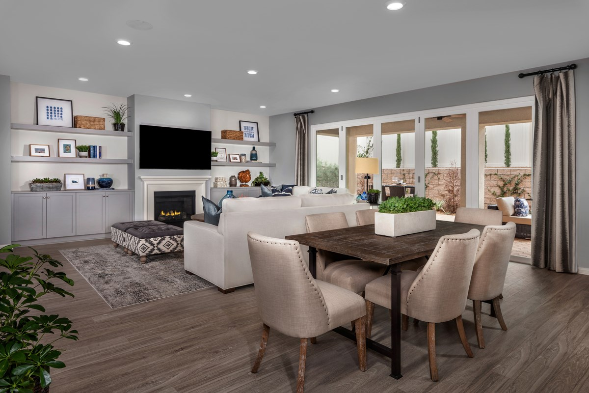 New Homes in Winchester, CA - Camberly Place Residence 2329 Great Room