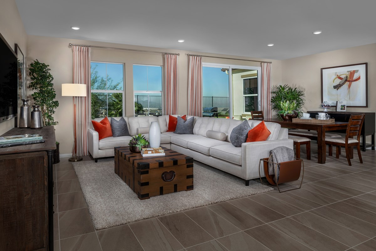New Homes in Riverside, CA - Capistrano at Spring Mountain Ranch Residence Two - Great Room