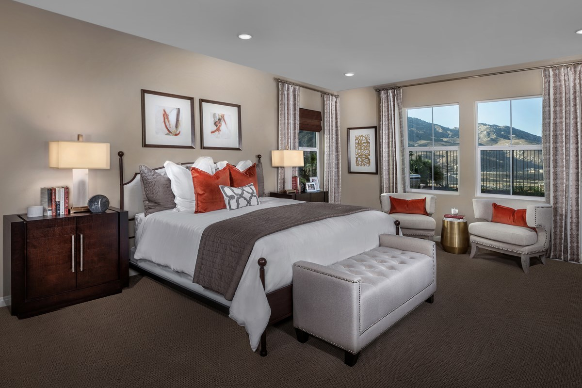 New Homes in Riverside, CA - Capistrano at Spring Mountain Ranch Residence Two - Master Bedroom