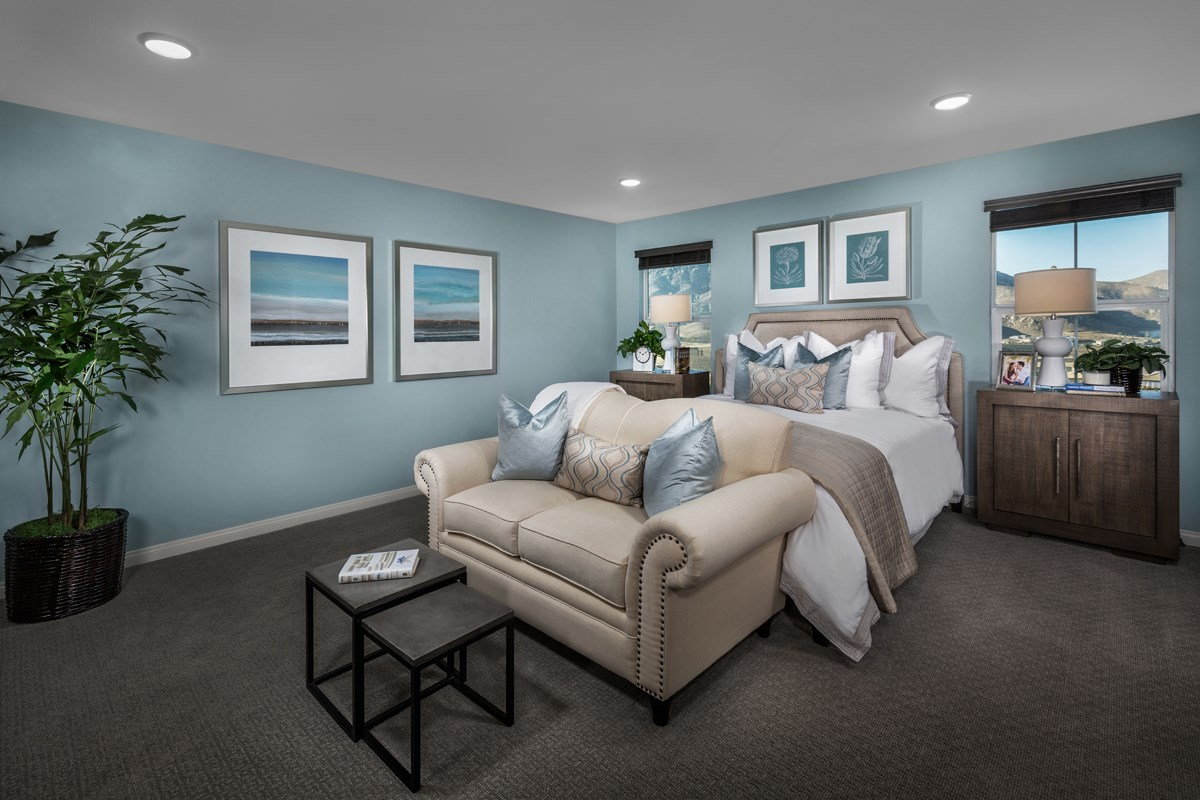 New Homes in Riverside, CA - Capistrano at Spring Mountain Ranch Residence Four - Master Bedroom
