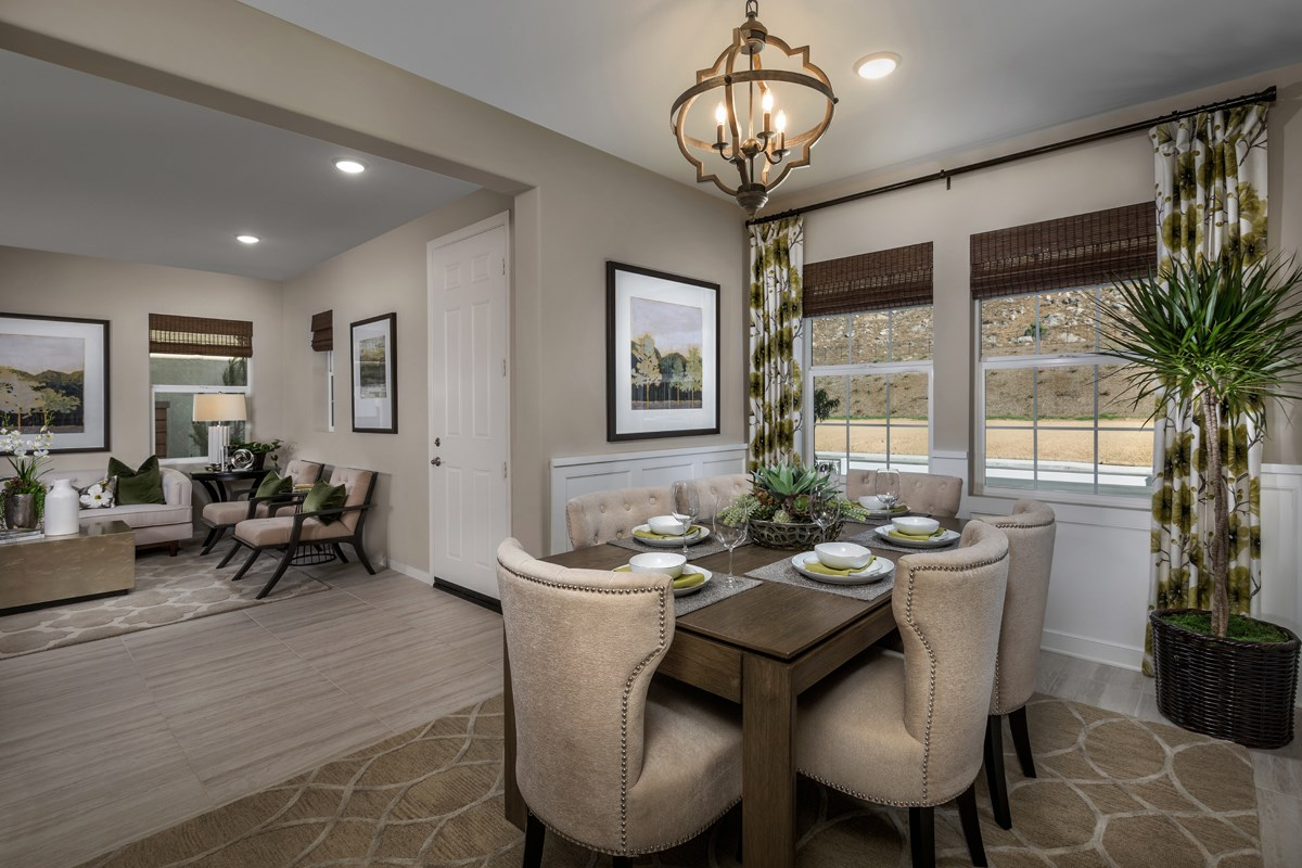 New Homes in Riverside, CA - Capistrano at Spring Mountain Ranch Residence Six - Formal Dining Room