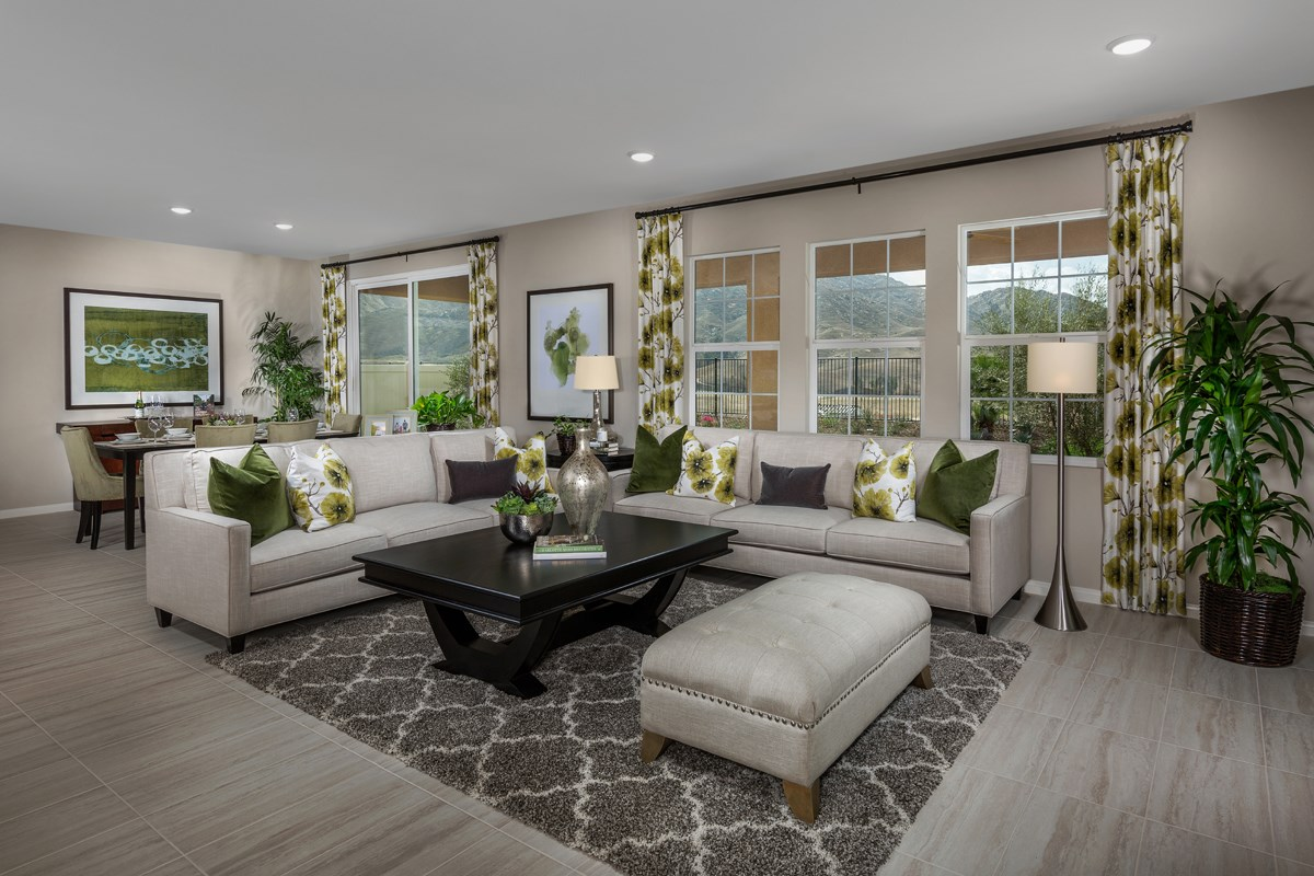 New Homes in Riverside, CA - Capistrano at Spring Mountain Ranch Residence Six - Great Room