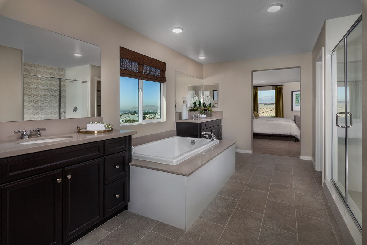New Homes in Riverside, CA - Capistrano at Spring Mountain Ranch Residence Six - Master Bath