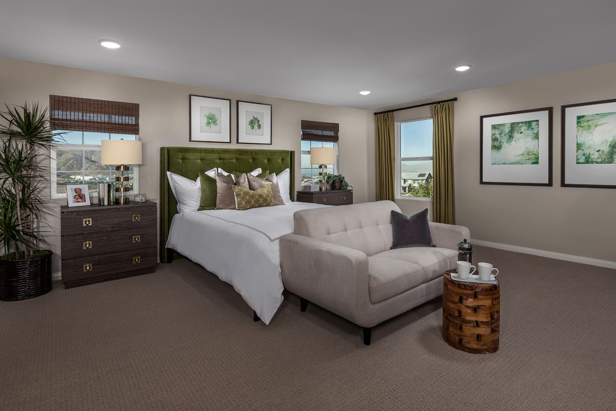 New Homes in Riverside, CA - Capistrano at Spring Mountain Ranch Residence Six - Master Bedroom