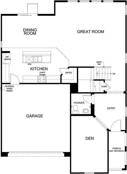 Residence Six Modeled New Home Floor Plan In Caraway At