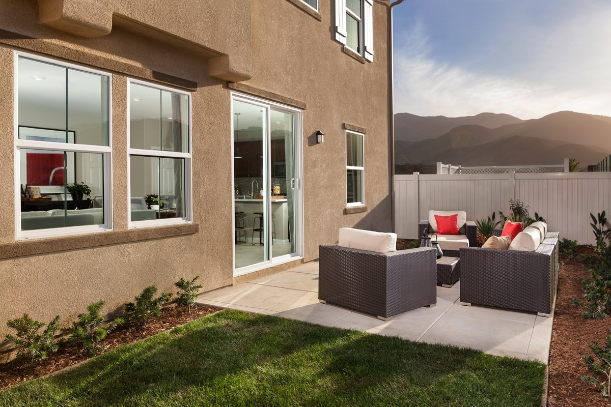 New homes in corona ca caraway at terramor residence two patio